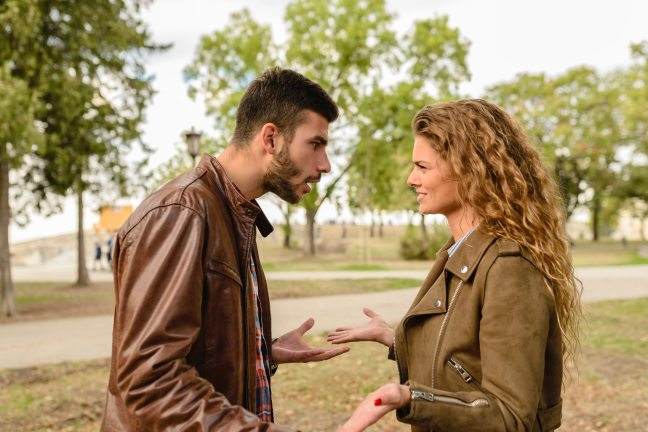 man-and-woman-wearing-brown-leather-jackets-984950